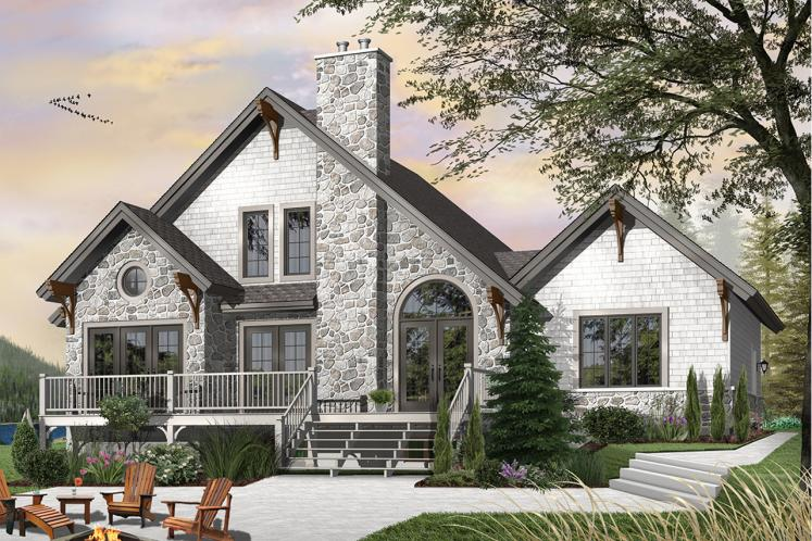 Cottage House Plan - The Wynstone 34000 - Rear Exterior