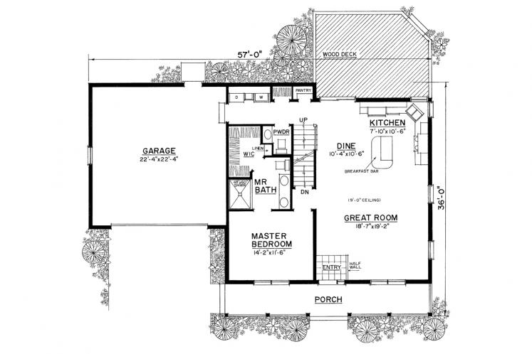 Country House Plan -  34137 - 1st Floor Plan