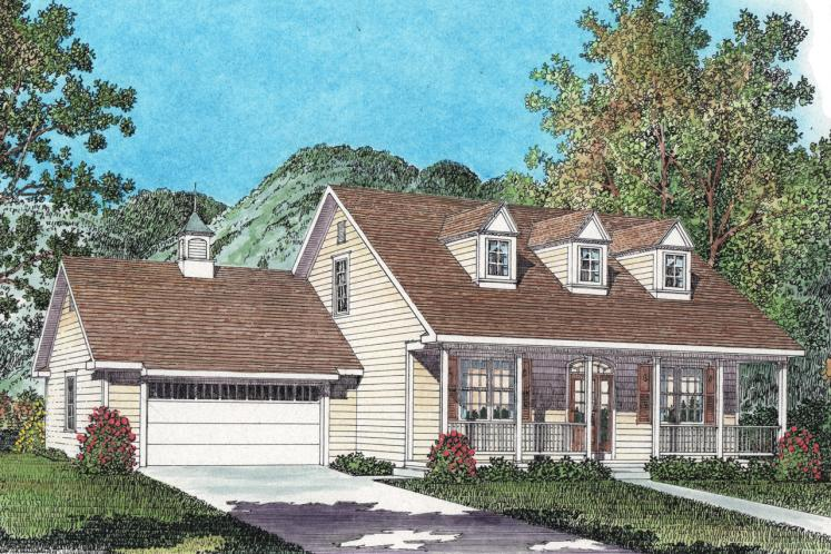 Country House Plan -  34137 - Front Exterior