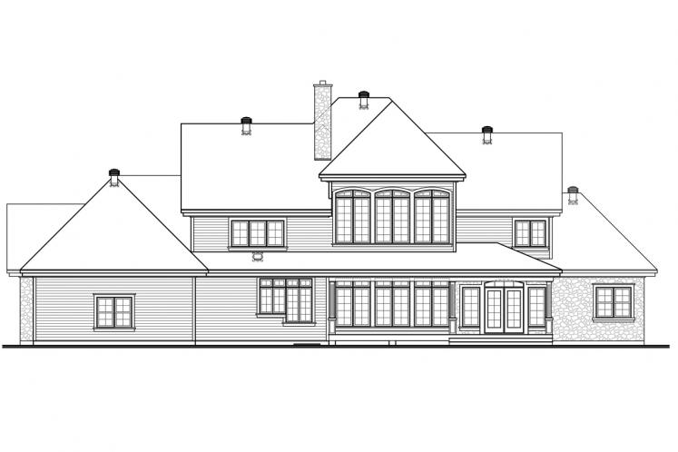 European House Plan - Carmel 34173 - Rear Exterior