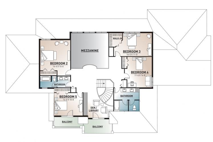 European House Plan - Carmel 34173 - 2nd Floor Plan