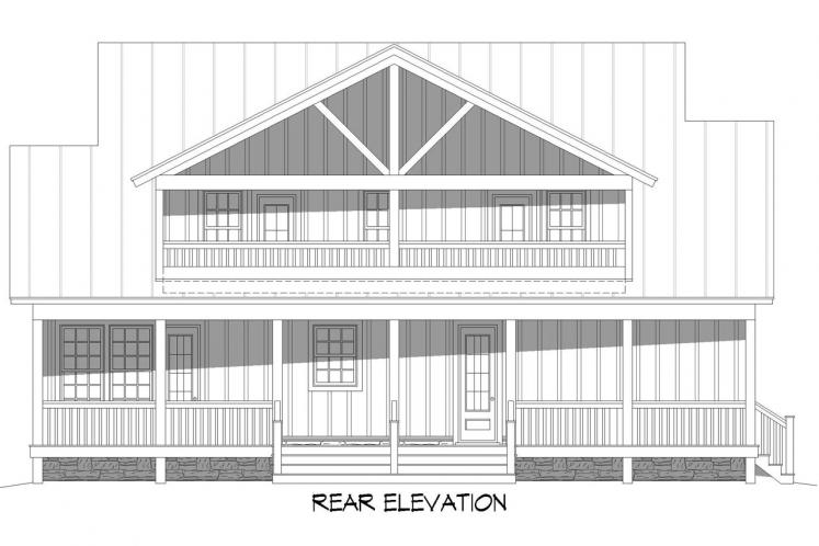 Country House Plan - Grand Bay 34320 - Rear Exterior