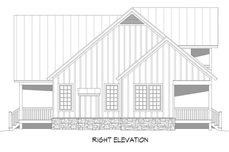 Country House Plan - Grand Bay 34320 - Right Exterior