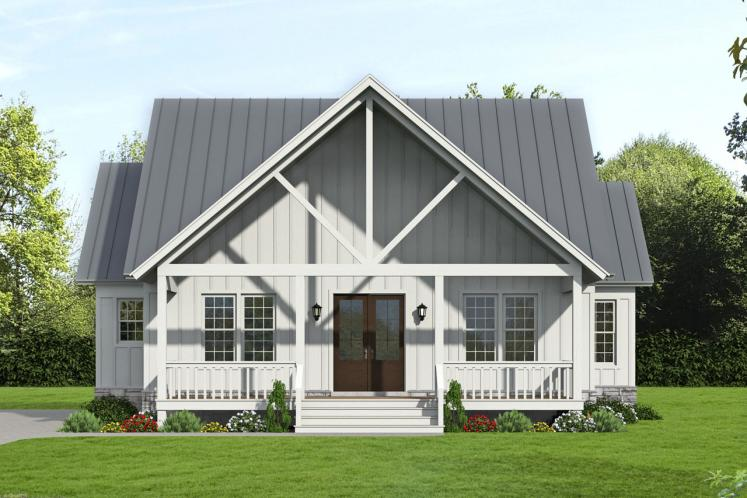 Cottage House Plan - Grand Bay 34320 - Front Exterior