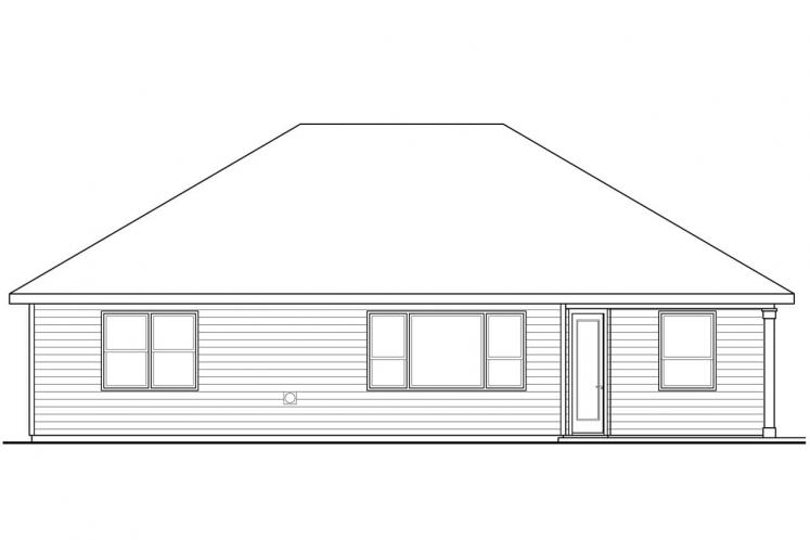 Ranch House Plan - Elsmere 34321 - Rear Exterior
