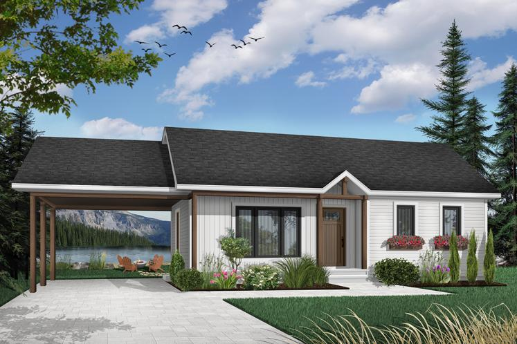 Traditional House Plan - Prairieside 34397 - Front Exterior