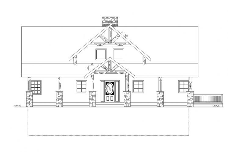 Country House Plan -  34482 - Front Exterior