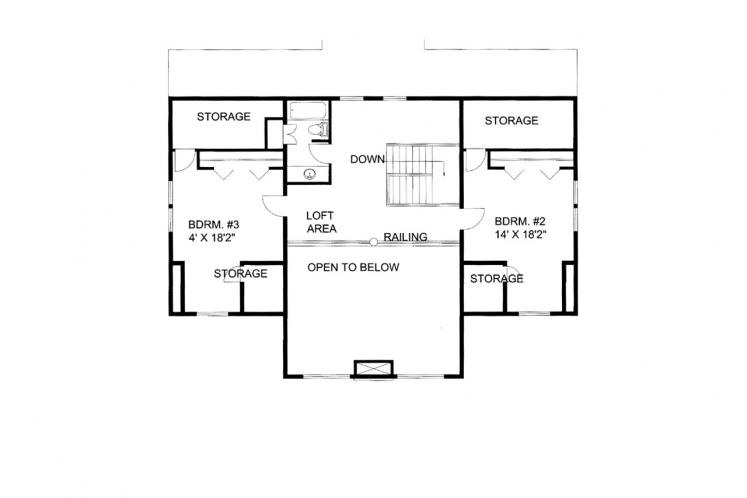 Lodge Style House Plan -  34482 - 2nd Floor Plan