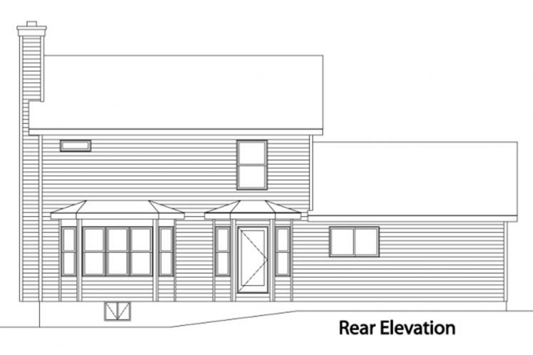 Cottage House Plan -  34607 - Rear Exterior