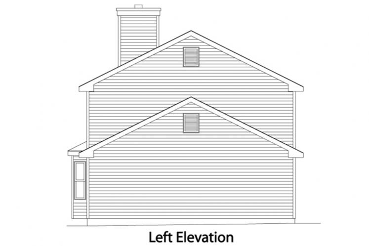 Country House Plan -  34607 - Left Exterior