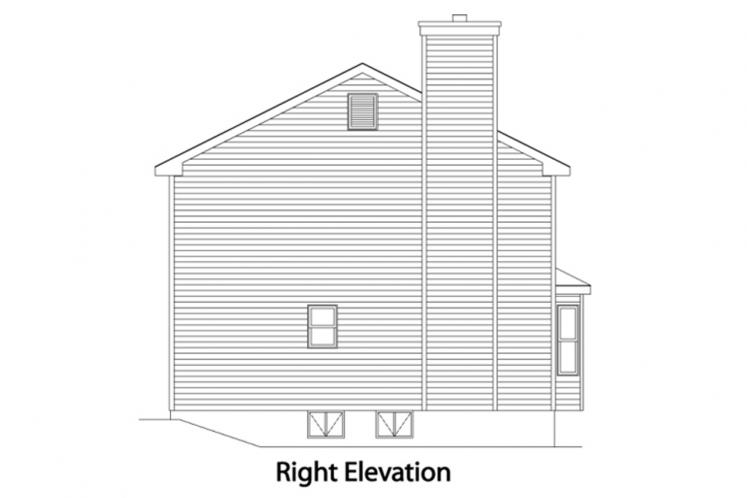 Cottage House Plan -  34607 - Right Exterior
