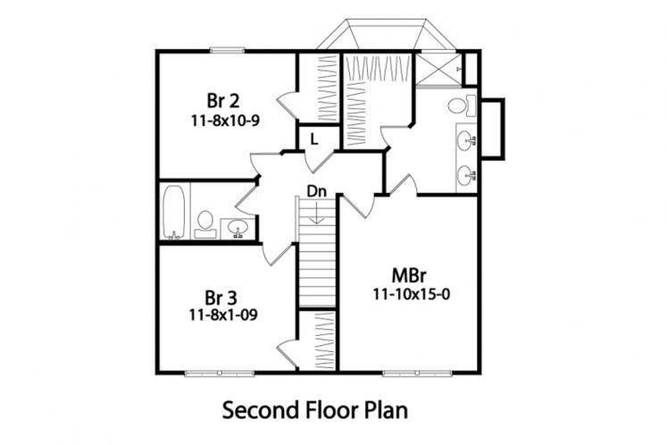 Cottage House Plan -  34607 - 2nd Floor Plan