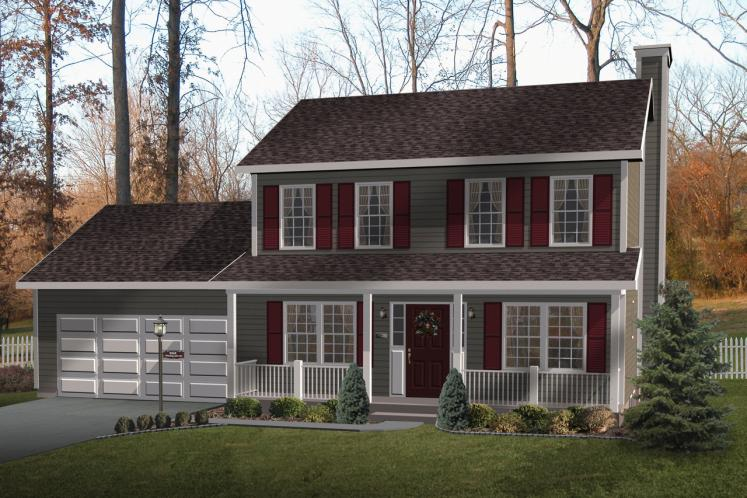 Country House Plan -  34607 - Front Exterior