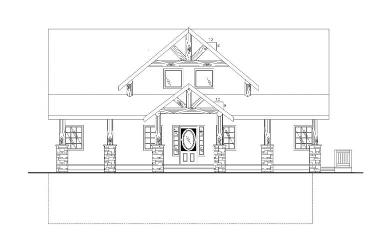 Country House Plan -  34642 - Front Exterior