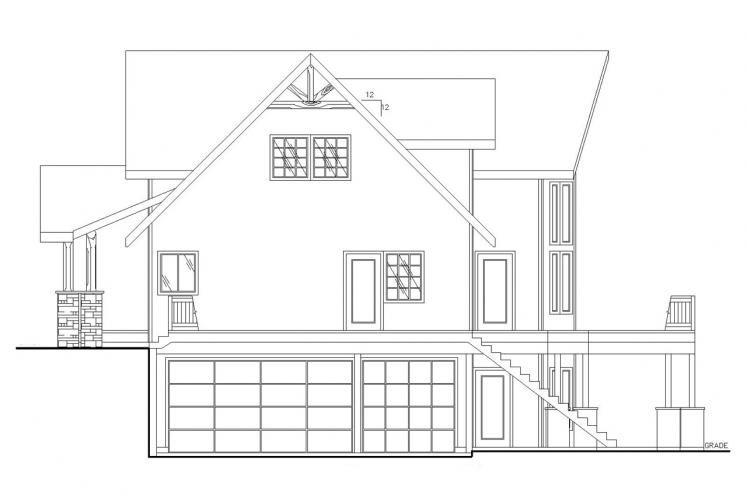 Country House Plan -  34642 - Right Exterior