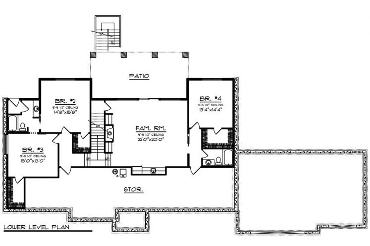 Country House Plan -  34676 - 2nd Floor Plan