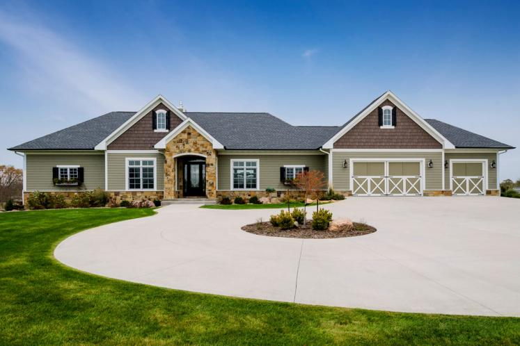 Ranch House Plan -  34676 - Front Exterior