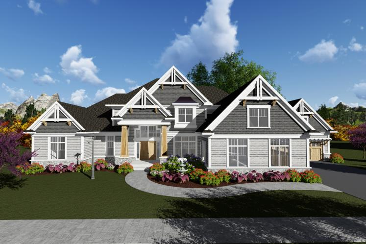 Classic House Plan -  34694 - Front Exterior