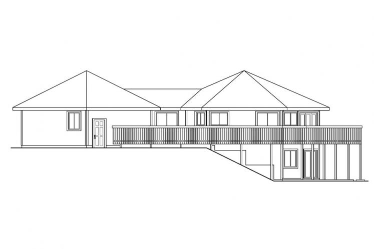 Ranch House Plan - Ravendale 34919 - Right Exterior