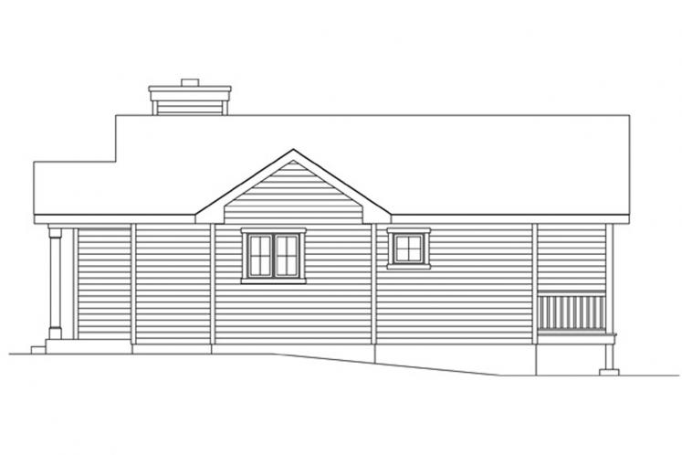 Traditional House Plan -  34943 - Right Exterior