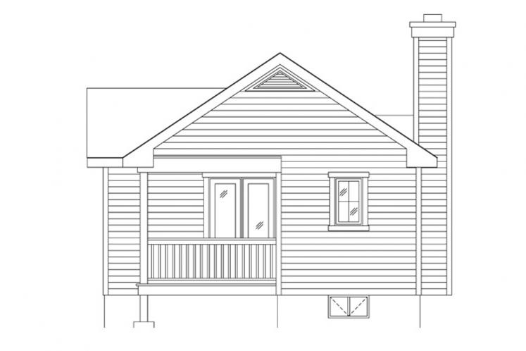 Traditional House Plan -  34943 - Rear Exterior