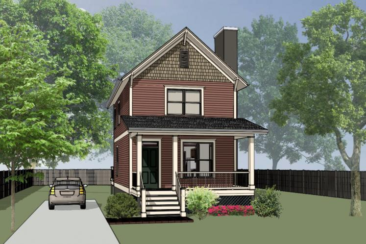 Traditional House Plan -  35109 - Front Exterior
