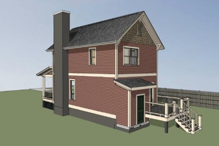 Craftsman House Plan -  35109 - Right Exterior