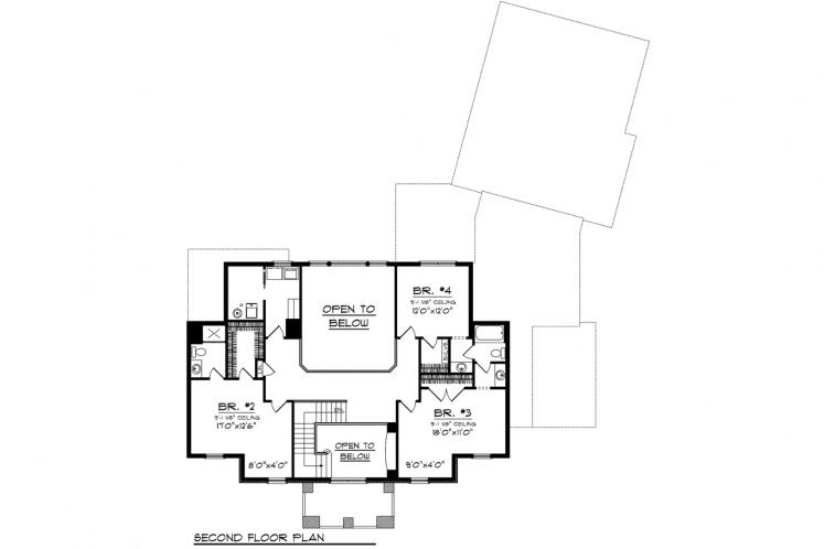 Colonial House Plan -  35146 - 2nd Floor Plan
