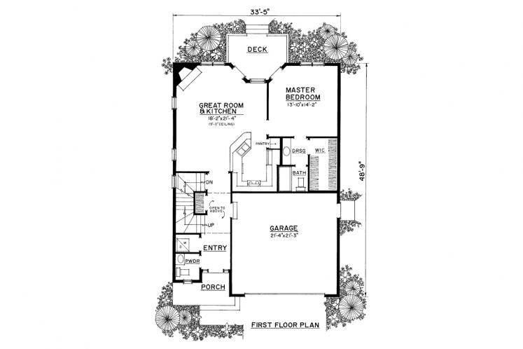 Traditional House Plan -  35175 - 1st Floor Plan