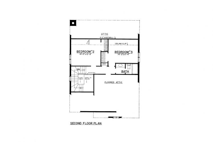 Country House Plan -  35175 - 2nd Floor Plan