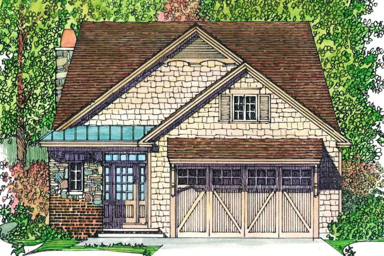 Country House Plan -  35175 - Front Exterior