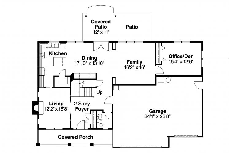 Cape Cod House Plan - Cavanaugh 35217 - 1st Floor Plan