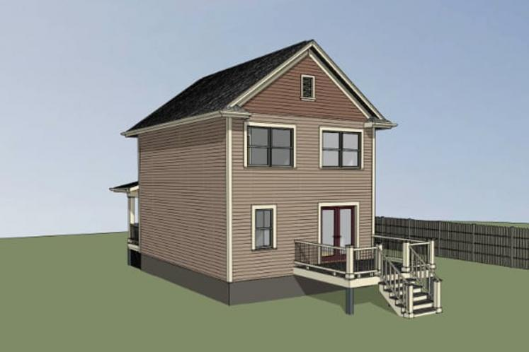 Traditional House Plan -  35314 - Right Exterior