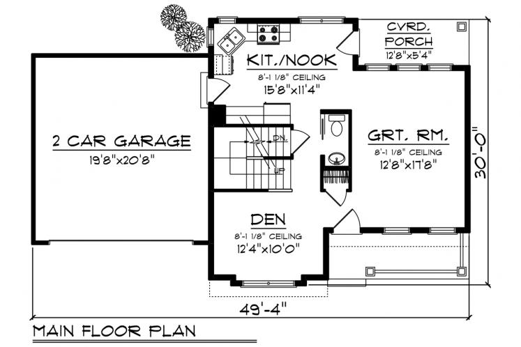 Traditional House Plan -  35386 - 1st Floor Plan