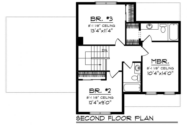 Country House Plan -  35386 - 2nd Floor Plan