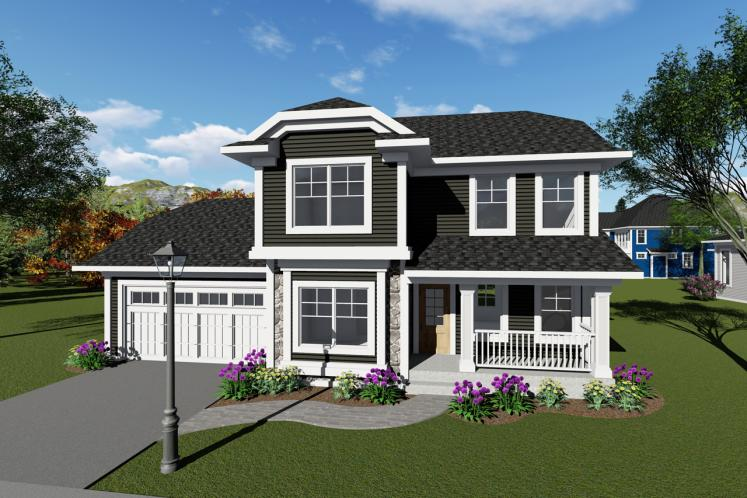Traditional House Plan -  35386 - Front Exterior