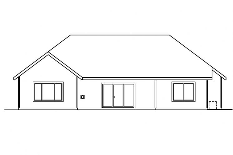 Classic House Plan - Anderson 35398 - Rear Exterior