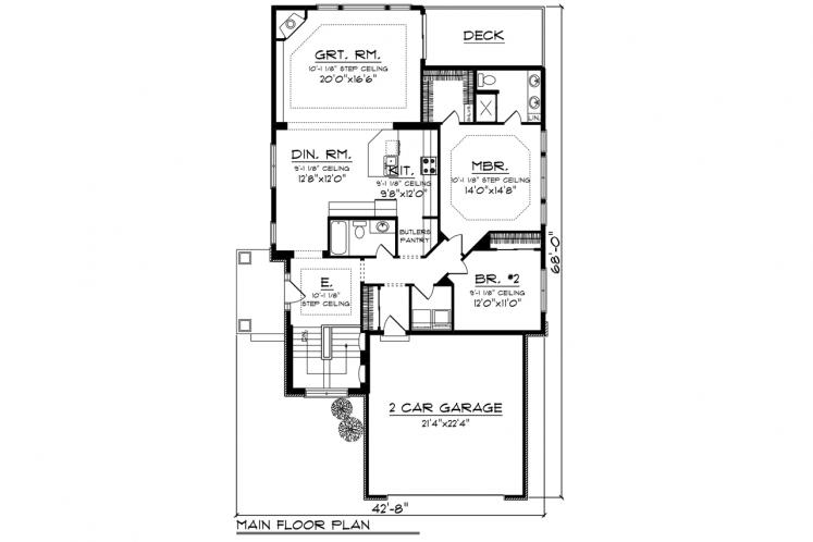 Traditional House Plan -  35431 - 1st Floor Plan