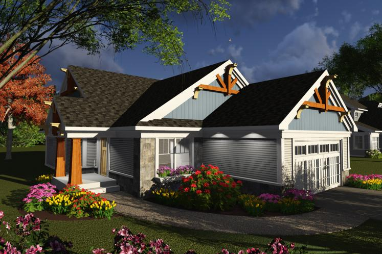 Craftsman House Plan -  35431 - Front Exterior