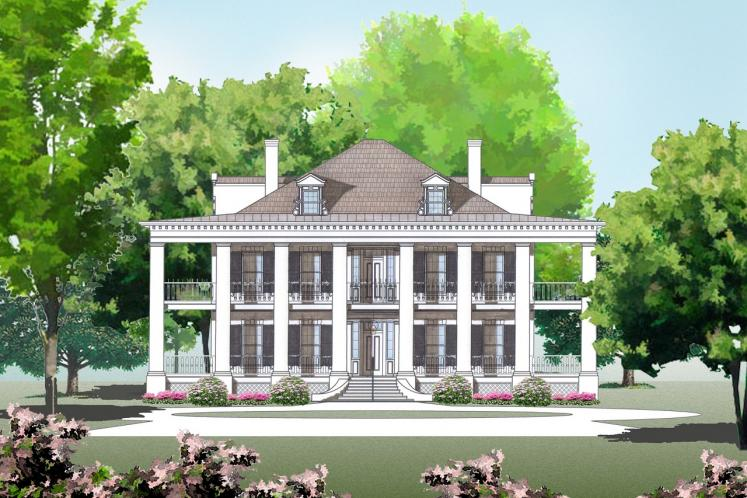 Classic House Plan -  35553 - Front Exterior