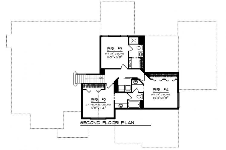 Craftsman House Plan -  35578 - 2nd Floor Plan