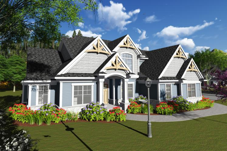 Craftsman House Plan -  35578 - Front Exterior