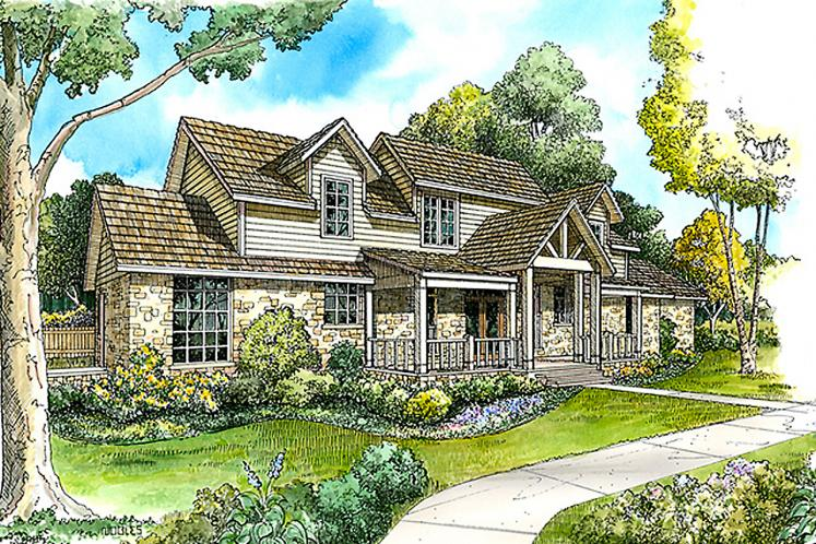 Farmhouse House Plan - Maxwell 35702 - Front Exterior
