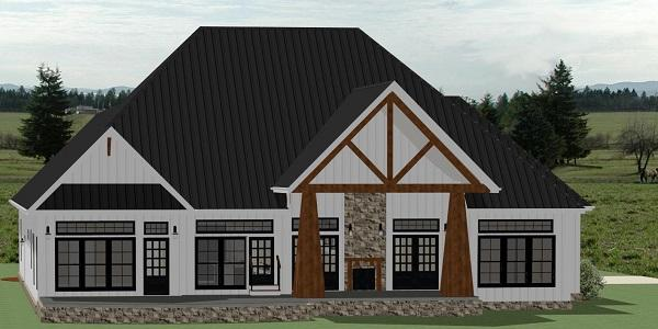 Country House Plan - Ashlyn 35737 - Rear Exterior