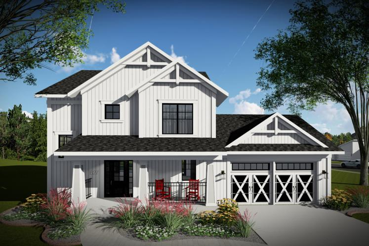 Farmhouse House Plan -  35760 - Front Exterior