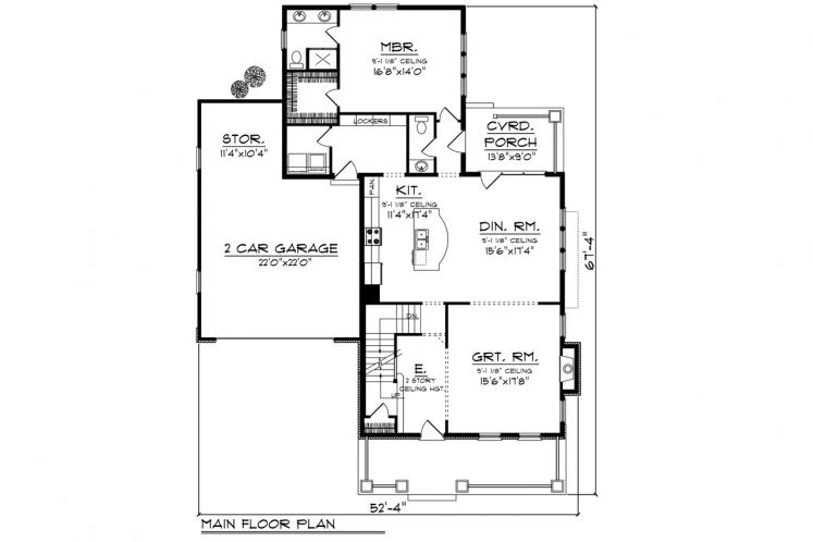 Traditional House Plan -  35763 - 1st Floor Plan