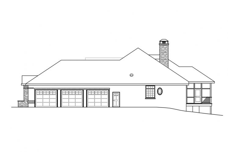 European House Plan - Toketee 35919 - Right Exterior