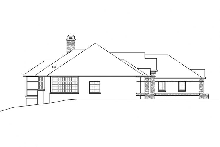 Traditional House Plan - Toketee 35919 - Left Exterior