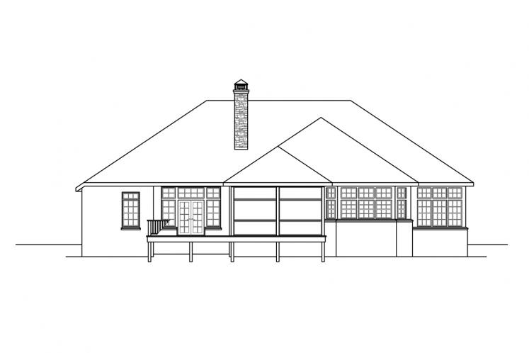 Ranch House Plan - Toketee 35919 - Rear Exterior