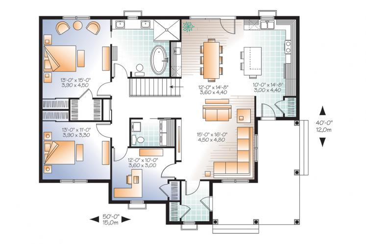 Traditional House Plan - Galerno 4 35987 - 1st Floor Plan